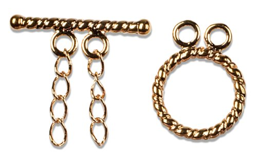 Cousin Jewelry Basics 2-Strand Toggle Clasp, Rose Gold, 1-Piece