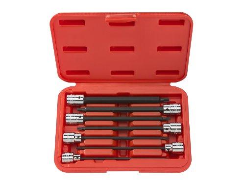 TEKTON 3/8-Inch Drive Extra Long Star Bit Socket Set, T10 - T40, 7-Piece | 1352 - T40 Replacement Long Torx