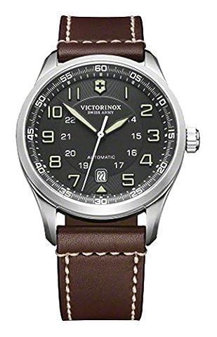 Victorinox Men's 241507 AirBoss Analog Display Swiss Automatic Brown Watch (Swiss Mechanical Automatic)