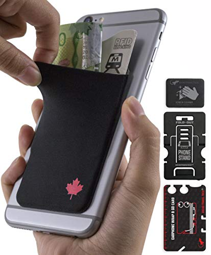 Gecko - CANADA 150 – Stick on Phone wallet - cellphone accessories – Maple  Leaf Love - Adhesive Phone Wallet - Stick-On Stretchy Lycra Card holder