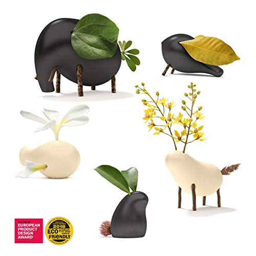 - Taksa Toys Locomo Family Black and White Edition (Set of 5) - The Animal Figure Wooden Toy for Educational Outdoor Play to Trigger Child's Imagination and The Love of Nature. Waldorf Montessori Toy.