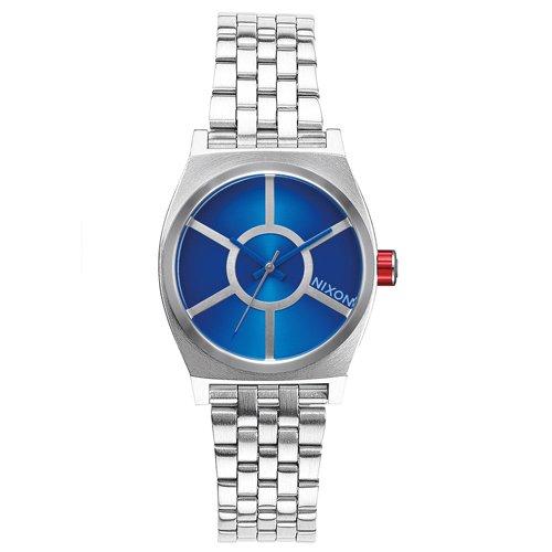 (Nixon Women's Small Time Teller SW R2D2 Blue A399SW2403 Silver Stainless-Steel Quartz Watch)