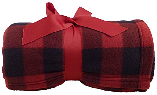 Simplicity Super Soft Warm Plaid Patterned Polar Fleece Blanket Throw 50