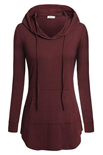 Women Tunics,Bepei Plus Size Formal Wear For Leggings Hoody Sweatshirts Wine M ()