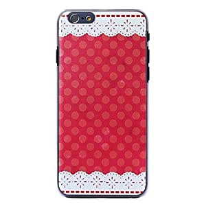 HugoFan Edge Of Lace Pattern Plastic Hard Case For iPhone 6 Case 4.7 Inch