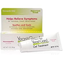 YeastGard Advanced Homeopathic Gel Treatment - Yeast Infection Symptom Relief, 1-Ounce Boxes (Pack of 3)