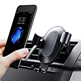 TORRAS Cell Phone Holder for Car, Gravity Auto-Clamping Air Vent Car Phone Mount Holder Cradle for iPhone X / 8/8 Plus / 7/7 Plus Samsung Galaxy S9 / S9 Plus / S8 / S8 Plus and More – Black