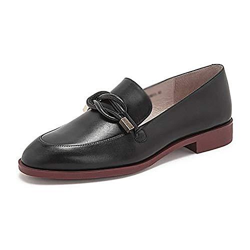 Bajo 5 Negro De Mujer zapatos Mujer Antideslizante Alta Cm Suela Calzado Tacón Cremallera Para Yxx Goma Mocasín Con 2 xYBawCqUqI