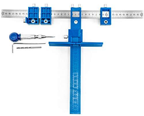JELA Cabinet Door Jig, Hardware Jig and Drill Bit Punch Loca