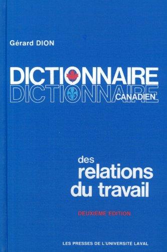 Dictionnaire Canadien Des Relations Du Travail [Pdf/ePub] eBook