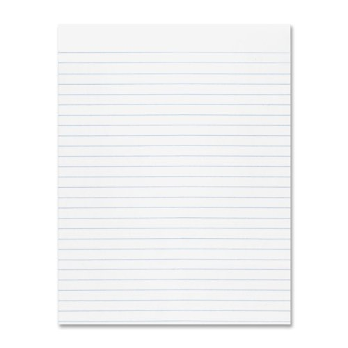 "Pacon Composition Paper, 8 1/2""X11"", 3/8"" No Margin, White, 500 sheets"