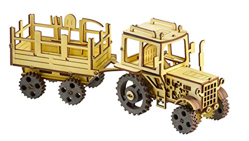 3D Wooden Puzzle Gifts for Teens Wooden Puzzles for Adults Engineering Mechanical Model Kit Tractor