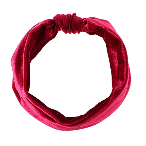 LOKODO Stretchy Knot Sports Suede Nonslip Solid Hairband Bow Knot Headband Accessories Hair Ties Ropes Scrunchie