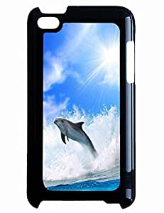 Customized Phone Case for Ipod Touch 4th with The Design Of Dolphin In The Warm Sunshine