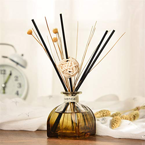 OrchidAmor Reed Oil Diffusers with Natural Sticks, Glass Bottle and Scented Oil 35ML 2019 New -