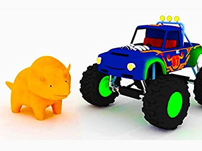 Learn shapes with Dino the Dinosaur : Monster Truck