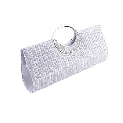 Millya - Cartera de mano para mujer, negro (negro) - yh1003-01C blanco