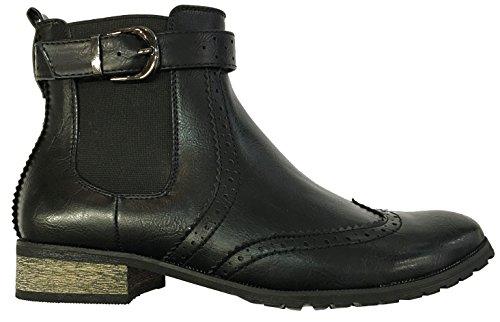 Manfield FLB400Damen Chelsea-Stiefel, schwarz