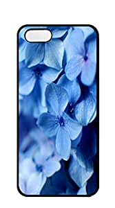 Plastic Phone Case Back Cover case iphone 5s - Blue flowers