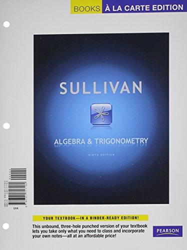 Algebra and Trignometry