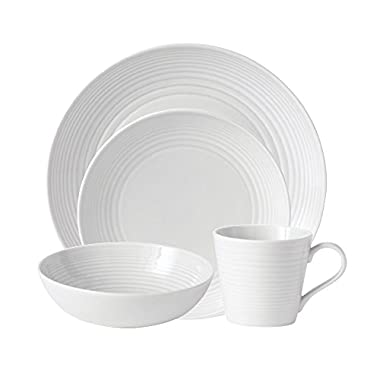 Gordon Ramsay by Royal Doulton Maze White 4-Piece Set