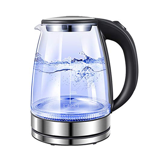 Instant Glass Electric Kettle 2000W Fast Plus Kettle Electric Water Heater LED Blue Light Temperature Control 304 Stainless Steel Chassis