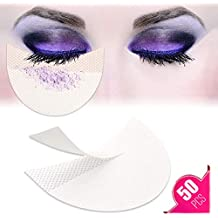 50 Pcs Eyeshadow Shield For Prevent Makeup Residue, TailaiMei Eye Pad for Eyelash Extensions/Perming/Tinting and Lip Makeup - Lint Free Under Patches Prevent Raccoon Eyes