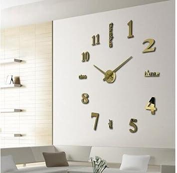 jinxu 20 cm reloj de pared DIY arte Digital pegar Decoración de pared reloj despertador,