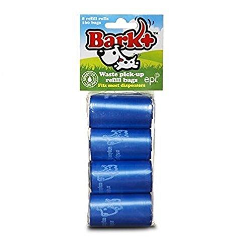 Bark 160 Count Unscented Dog Waste/Poop Bags, Blue