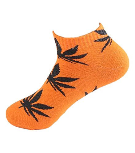 security Unisex Casual Socks Maple Leaf Cotton Sports Ankle Socks 23 OS