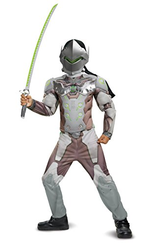 Disguise Genji Classic Muscle Child Costume, Gray, -