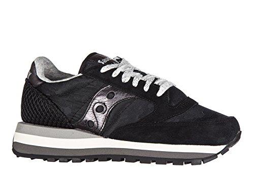 Saucony chaussures baskets sneakers femme en daim jazz original noir
