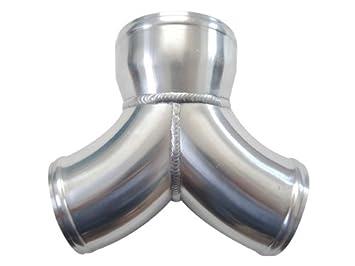 "cxracing aluminio y tubo Dual 3 ""a 4"" Aire Twin Turbo Intercooler Piping"