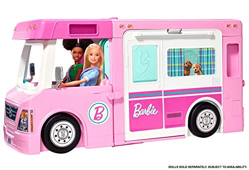 Barbie 3-in-1 DreamCamper Vehicle with Pool, Truck, Boat and 60 Accessories
