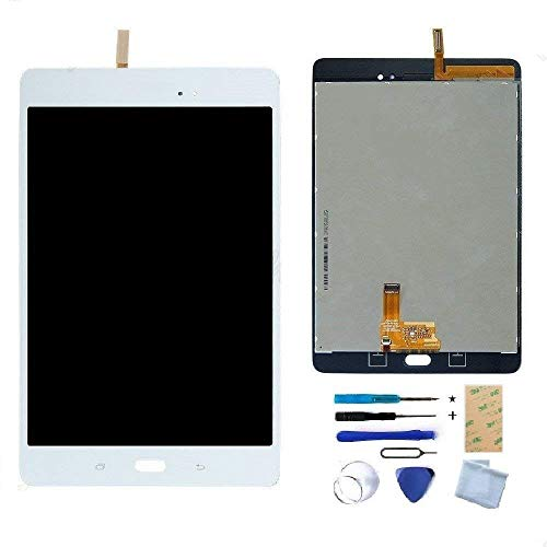 LCD Display Touch Screen Digitizer Assembly Replacement Part for Samsung Galaxy Tab A 8.0 SM-T350 (White), NOT for T380/T385/T355/T357 & No Earpiece Hole.
