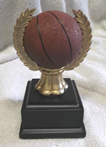 Basketball Resin Ball in Wreath Award Trophy RF1734 Block Black Base