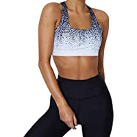 Challyhope Womens Sports Vest, Fashion Tie-dye Yoga Tank Crop Tops Workout Running Gym T-Shirt