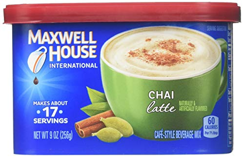 Maxwell House International Coffee Chai Latte, 9-ounce Cans (Pack of 3)