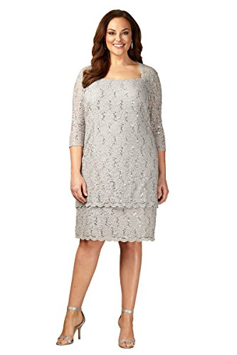 Plus Size Short Shift Tiered Dress by Alex Evenings