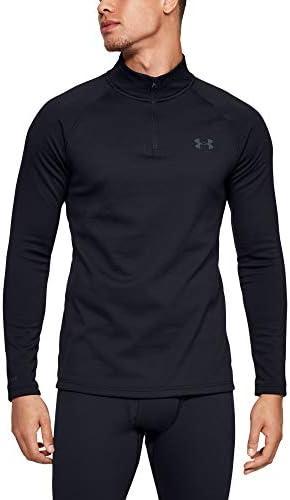 Black Under Armour 1353349 Men/'s UA ColdGear Base 4.0 Top Baselayer Crew Shirt