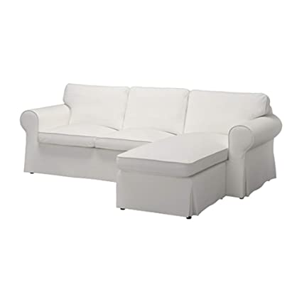 TLYESD Ektorp 2 Seater With Chaise Lounge Sofa Cover Cot White