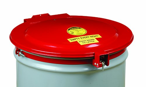 Justrite 26753 New Self-Latching Safety Drum Cover: Drum And