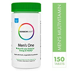 Rainbow Light Men's One Multivitamin Plus Superfoods & Probiotics Non-GMO provides comprehensive nutritional support tailored to men's health. This complete multivitamin for men nourishes the body with scientifically studied ingredients, ...