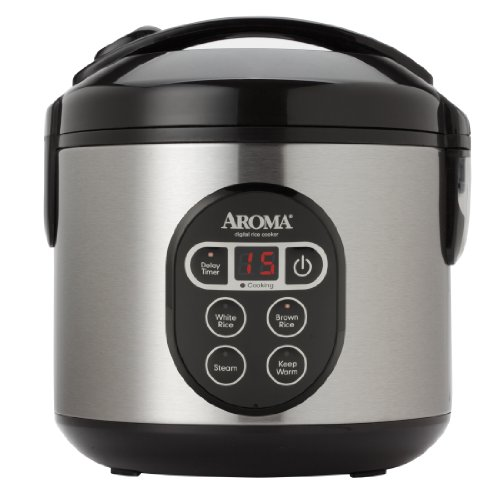 Aroma Housewares ARC-914SBD 8-Cup (Cooked) Digital Cool-Touch Rice Cooker and Food Steamer with Stainless Steel Exterior, Silver (Slow Cooker Rice Maker compare prices)