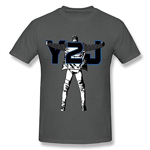 Men's Chris Jericho Action Figure Poster O-neck Tshirt Size XXL DeepHeather