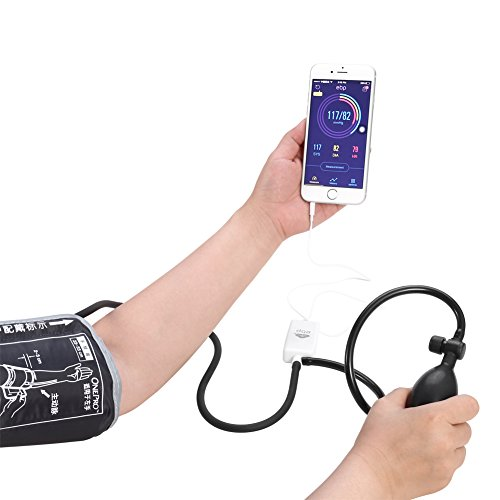 AUPALLA Smart Upper Arm Blood Pressure Monitor With Cuff For iPhone Android Phone Works Without AAA Battery No Need Charge,Environmental Portable Health Monitor