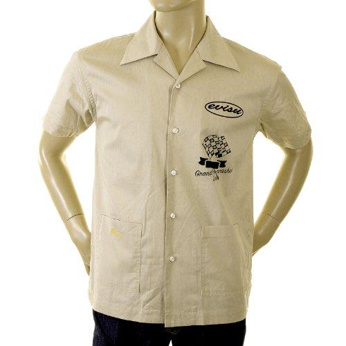EVISU Khaki Early Original Genuine Rare ES04MSS10 H52 Station Shirt ()
