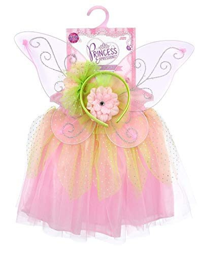 EXPRESSIONS Princess Dress Up Flower Wings One_Size Light Pink