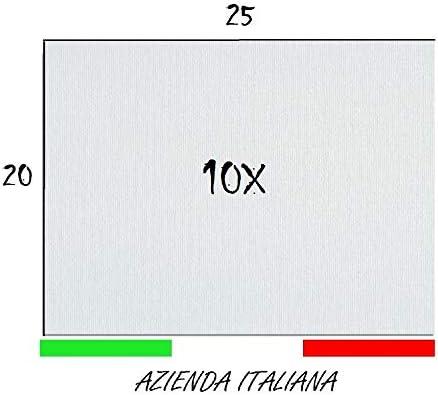 per Tutti i Tipi di Pittura su Tela ROMAFRA Set di 10 Tele Cartonate per Dipingere 20x20 cm Cartone Telato 100/% Cotone Senza Acidi.