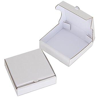 "4 ""White Mini Cajas de pizza (8 unidades), diseño de chica"